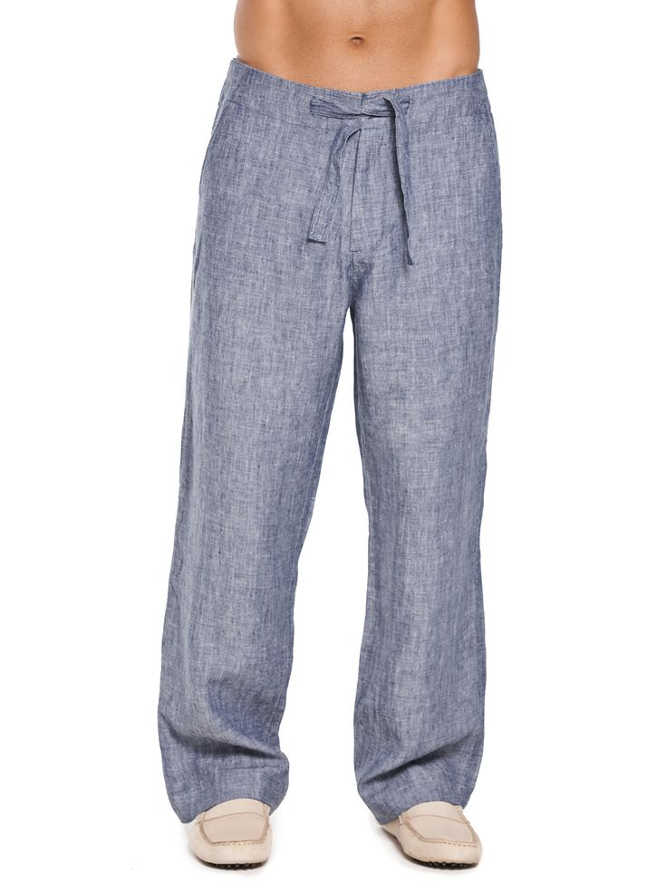 The perfect beach pants for men, these soft men's linen pants come in a classic cut and cool grey. Our Seal Beachcomber Linen Pants are for total relaxation.