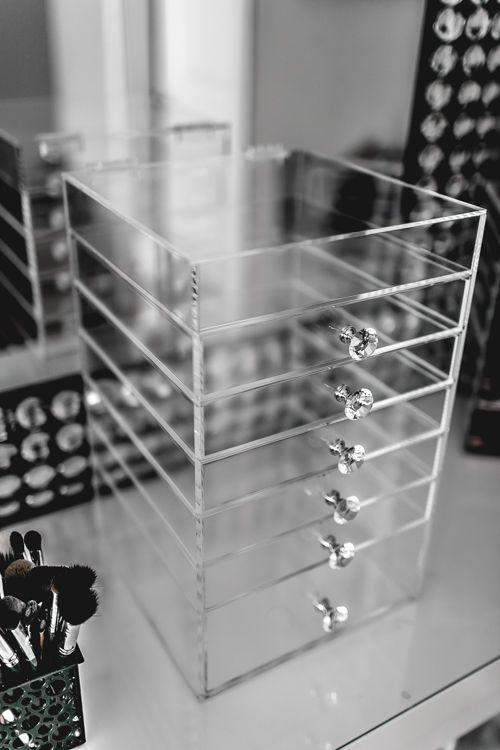 6 Drawer Acrylic Makeup Organizer Cube Cosmetics Storage Box Luxury Diamond  Knob in Estuches y bolsos. 17 Best ideas about Acrylic Makeup Organizers on Pinterest