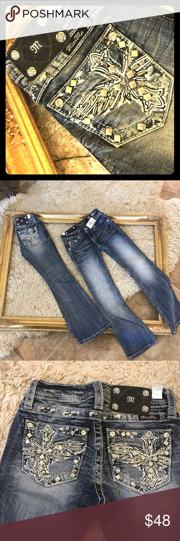 Selling this NWOT!! Girls Miss Me Jeans Bootcut on Poshmark! My username is: dalyfinds2014. #shopmycloset #poshmark #fashion #shopping #style #forsale #Miss Me #Other