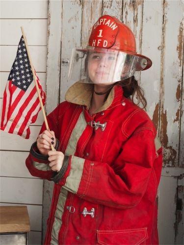 superbe tenue pompier americain uniforme USA