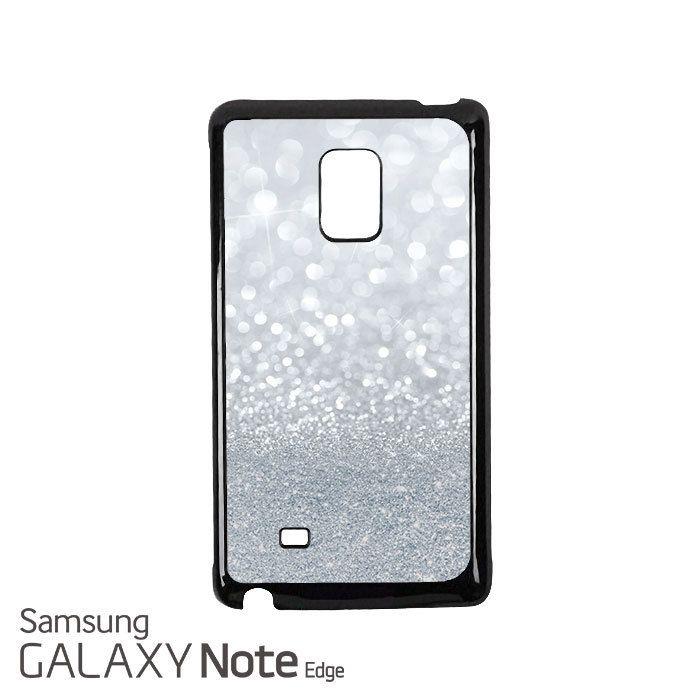 Grey Sparkle Glitter Samsung Galaxy Note EDGE Case Cover
