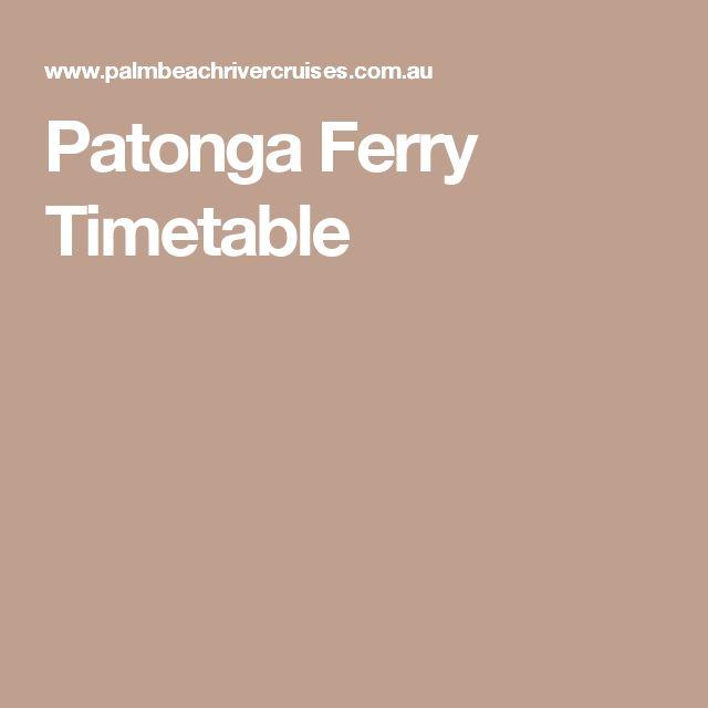 Patonga Ferry Timetable