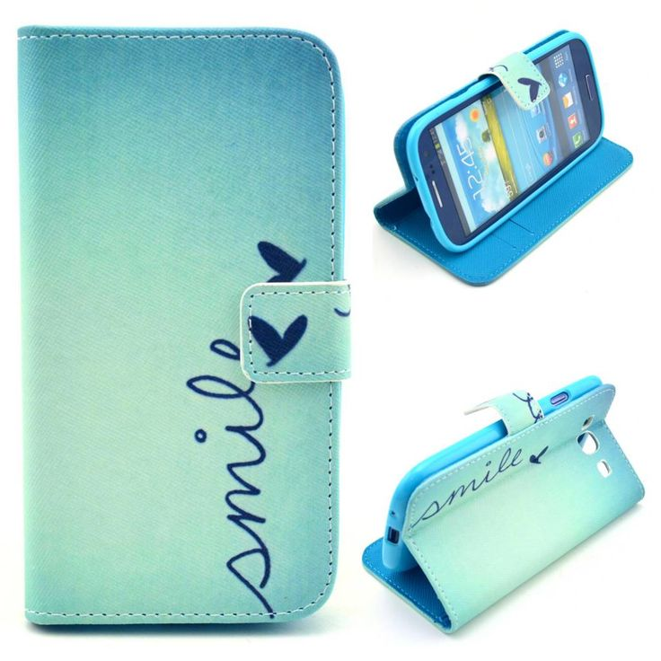 Smile Quote booktype hoesje voor Samsung Galaxy S3