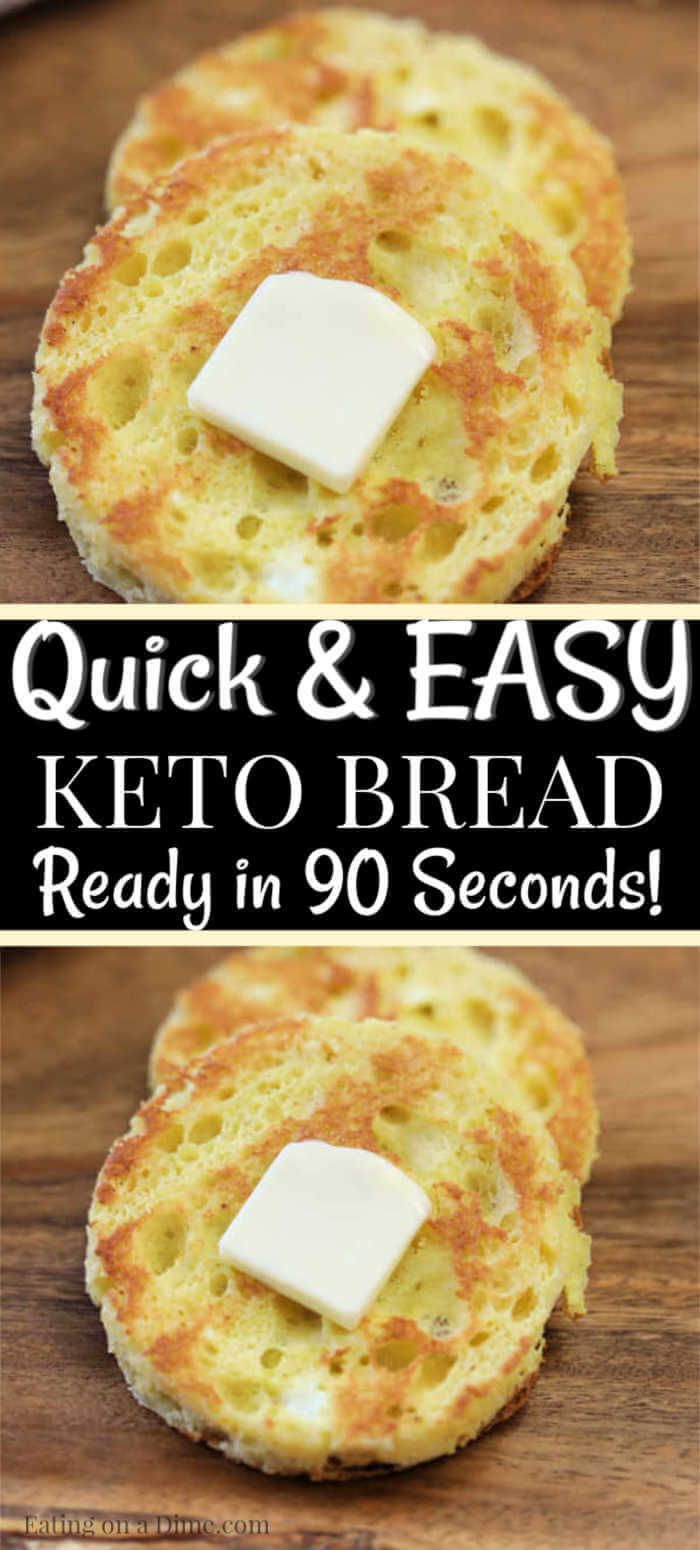 The Best 90 Second Bread Recipe Keto Friendly Bread Easy Keto