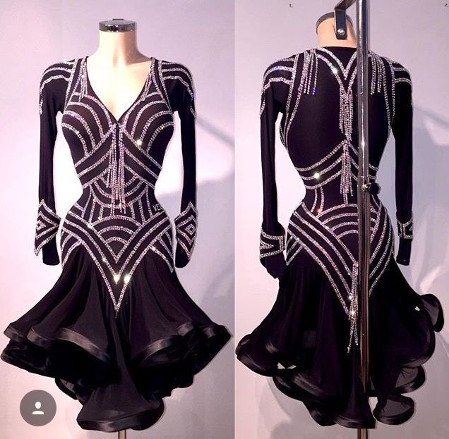Geometric Latin dance dress