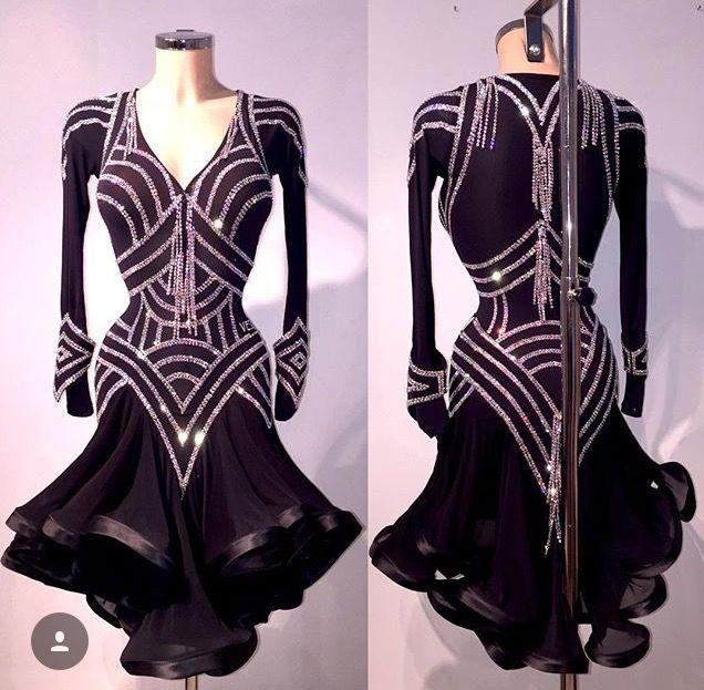 Geometric Latin dance dress