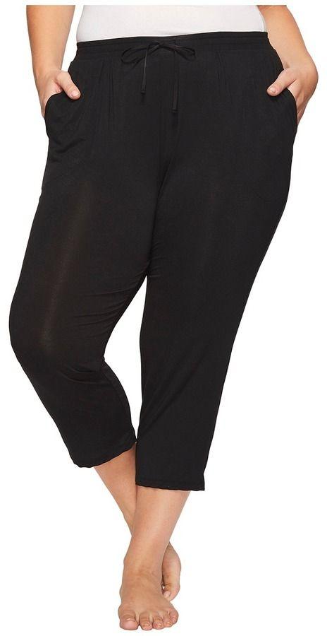 DKNY Plus Size Capri Pants Women's Pajama