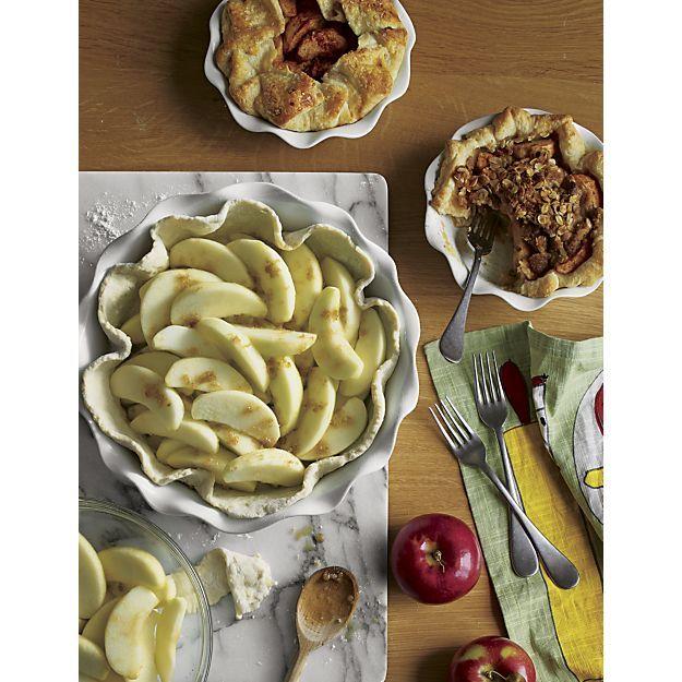Ruffled Individual Pie Dish | Crate and Barrel