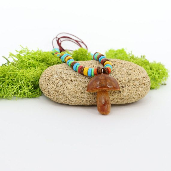 Hey, I found this really awesome Etsy listing at https://www.etsy.com/listing/274692966/colorful-mushroom-pendant-avocado-seed