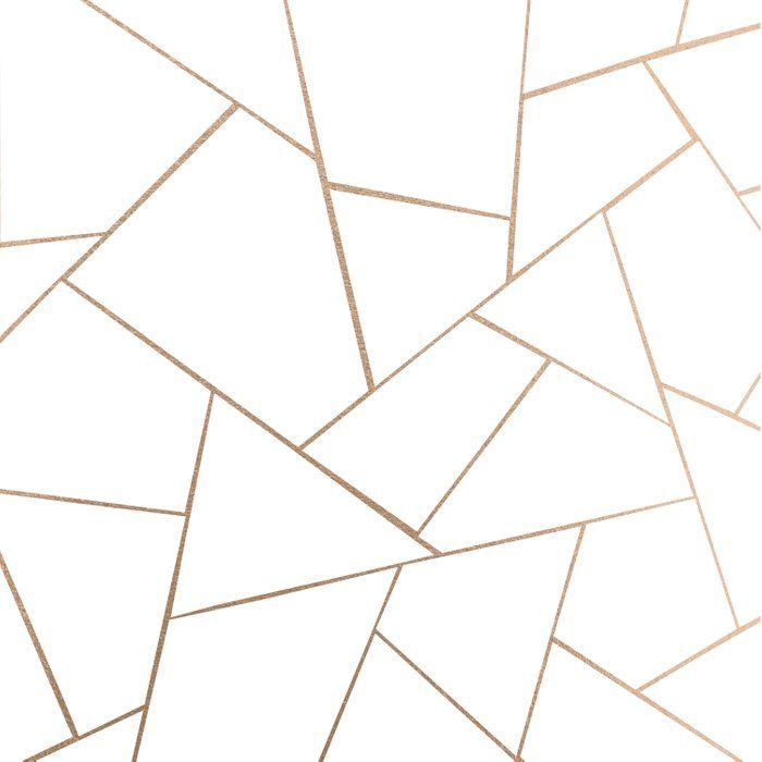 Rose Gold White Geometric Glam 1 Geo Decor Art Society6 Duvet Cover By Anita S Bella S Gold Geometric Wallpaper Gold Abstract Wallpaper Gold Accent Wall Gold and white geometric wallpaper
