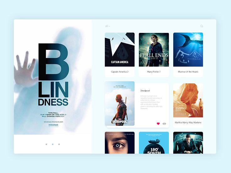 Movie UI by Criss Samson #Design Popular #Dribbble #shots