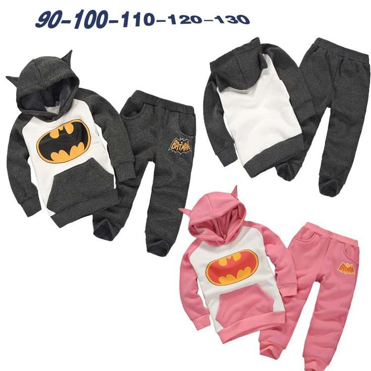 Retail New Fashion 2016 Children Outfits Tracksuit Batman Clothing Children Hoodies + Kids Pants Sport Suit Boys Clothing Set