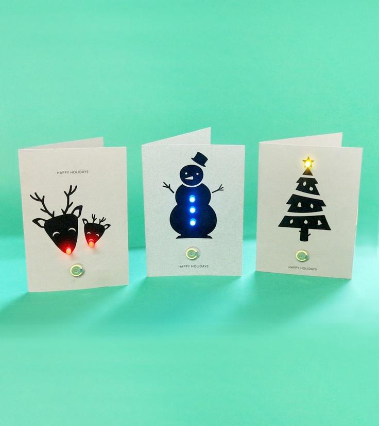 Diy christmas led card festive electro kit