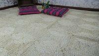 Сельский соломы ковер, Кос двухцветный коврик, Кукуруза рисовой шелухи ручной работы площадку, Трикотажные ковры, 0556, Соломинки ковер