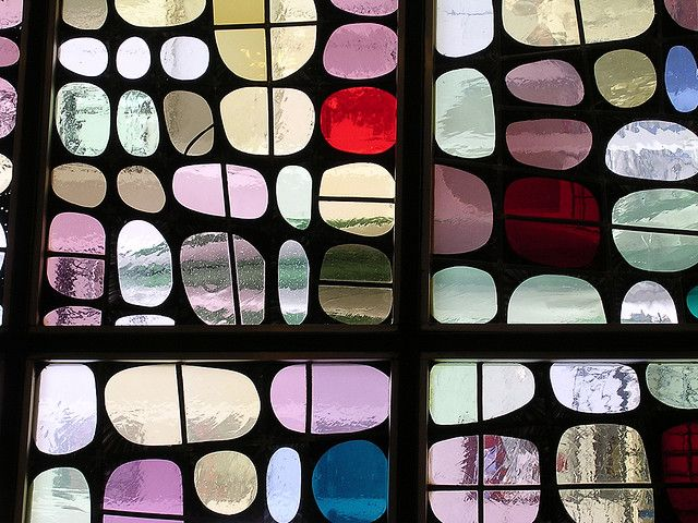 Stained glass window in Berlin-I love this modern take on such and old craft.