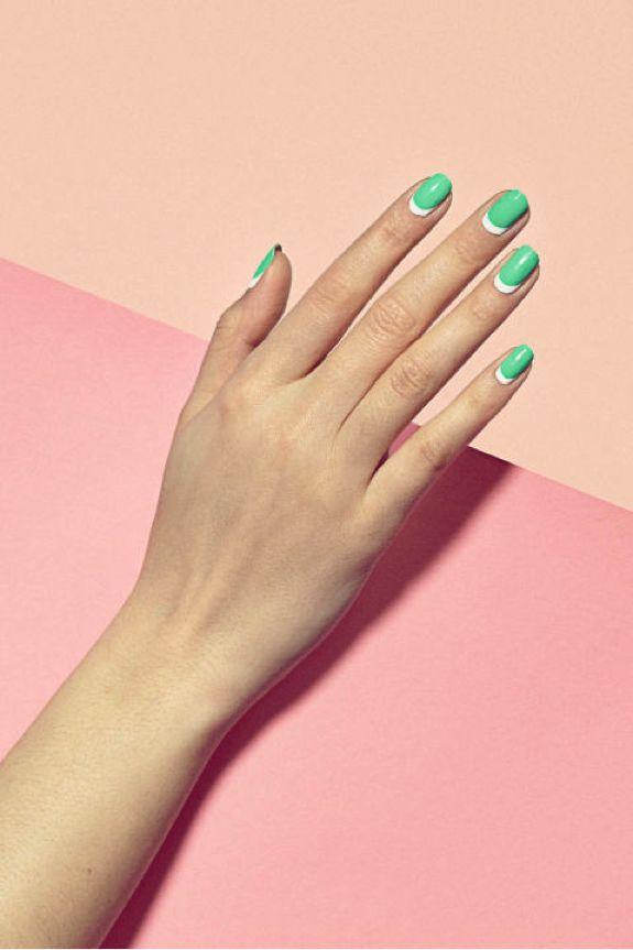 Favorite Trend {this gorgeous half moon mani by Paintbox}.