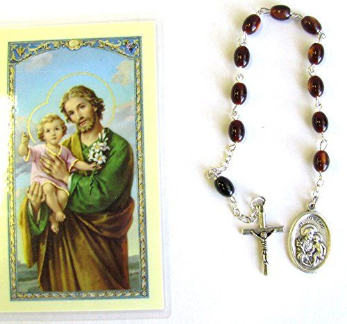 Saint Joseph Father of Jesus San Jose Padre De Jesus Rosary Chaplet Blessed By His Holiness Francis Free Laminated Prayer Card English or Spanish ENGLISH -- See this great product.(This is an Amazon affiliate link)
