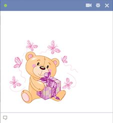 Say happy birthday to someone you know on Facebook using this adorable bear emoticon.