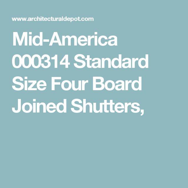 Mid-America 000314 Standard Size Four Board Joined Shutters,