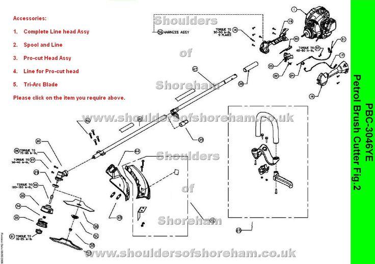 Pbc3046ye      Ryobi    Trimmer brushcutter      Diagram     Spare parts