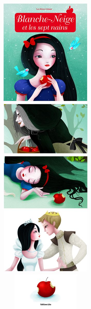 Blanche-Neige (Snow White) book illustrated