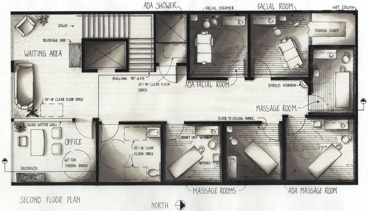 Day Spas Floor Plans And Salons On Pinterest