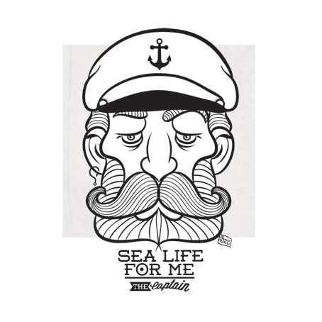 Sea Life For Me by Alessio Rotulo, via Behance