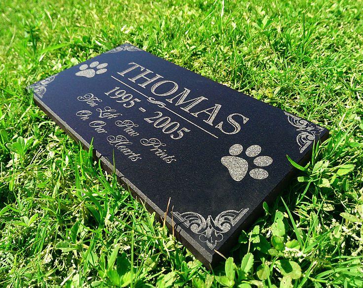 Personalized Dog Memorial  Cat Memorial Granite Stone Pet Grave Marker Engraved In Memory of Headstone Custom Engraved Garden Memorial Stone by eugenie2 on Etsy https://www.etsy.com/listing/225601338/personalized-dog-memorial-cat-memorial