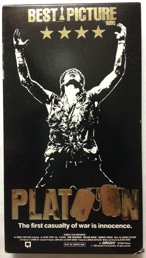Platoon (VHS, 1997) Johnny Depp - Charlie Sheen - Willem Defoe - Tom Berenger