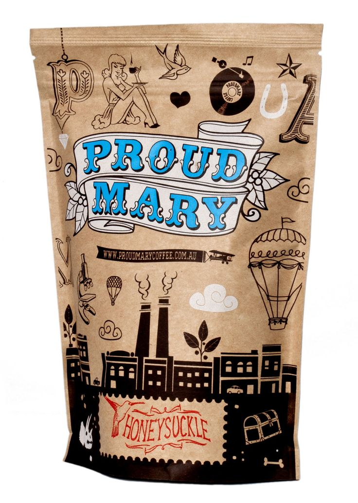 Proud Mary | Ghost Rider rather unique #coffee #packaging PD