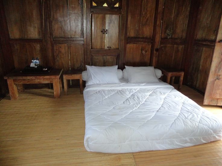 You can rent this wooden stilt house from Timor, it is placed in a beautiful garden hotel