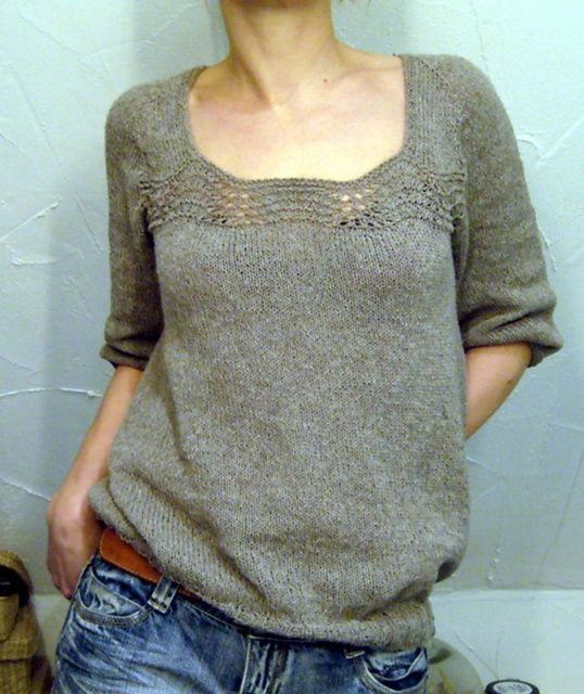 yup... making this... like the length of the sleeves... oh, did I mention... pattern? free!