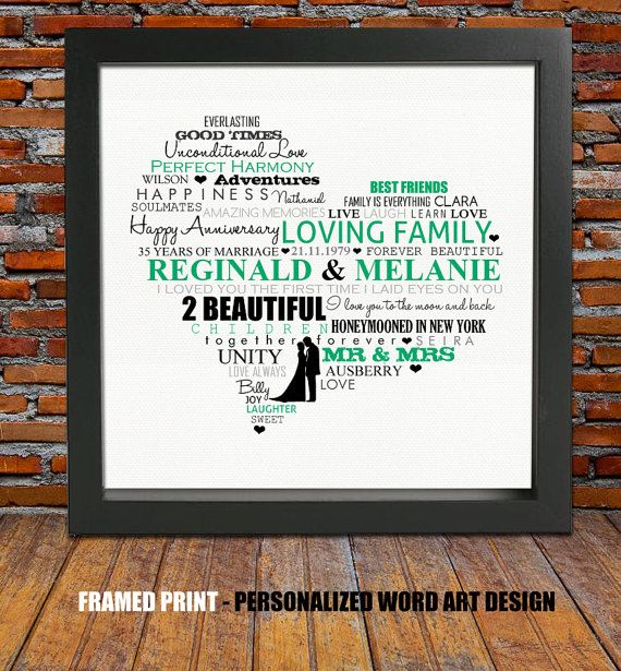 Personalized 35th wedding anniversary  wedding by BlingPrints                                                                                                                                                                                 More