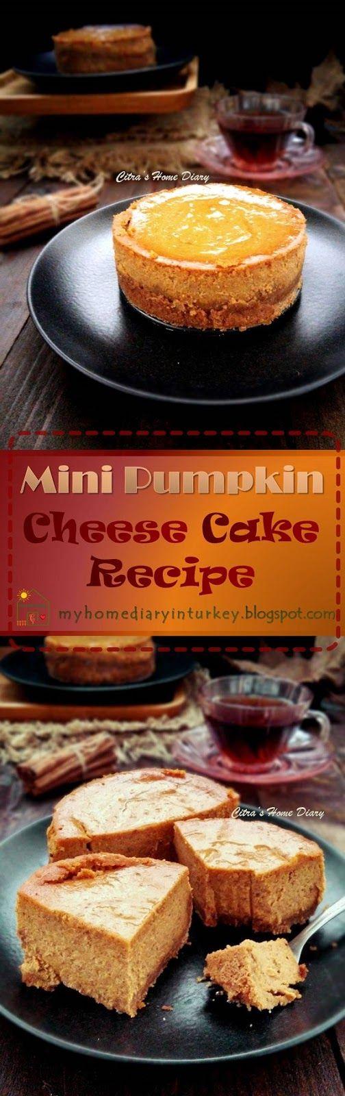 Mini Pumpkin CheeseCake / Cheesecake labu kuning-Çitra's Home Diary