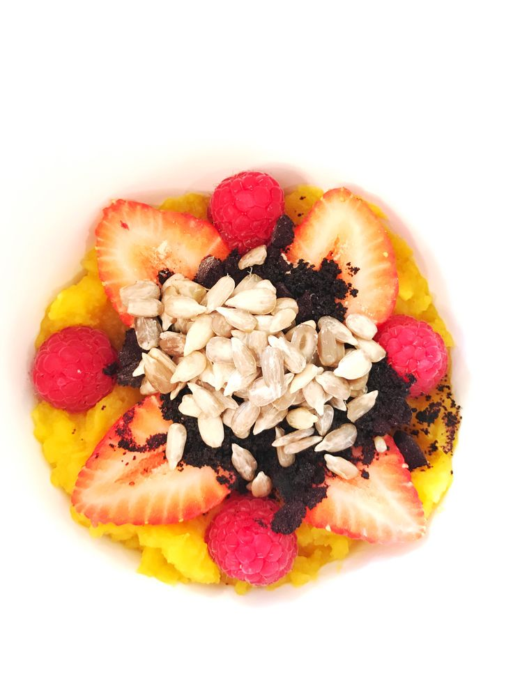 GOOOOD Morning Everyone! I love to have color in my foods. More color = More nutrients. Roasted Delicata Squash that I pureed after cooling, added some acai powder, strawberries, raspberries and raw, sprouted sunflower seeds. To finish I topped it with hot coconut milk. DIVINE!   #healthy #breakfast #recipe #newportbeach #wellness #health #dr DON'T FORGET TO GET YOUR NUTRIENTS IN-FULL FORCE WITH A CUSTOM-MADE IV MADE ESPECIALLY FOR YOU BY ME!  www.DrNirvana.Com