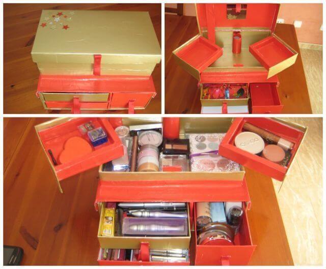 Organizadores De Maquillaje Hechos En Casa Organizadores De Cosmeticos Caja De Carton Organizadores De Carton