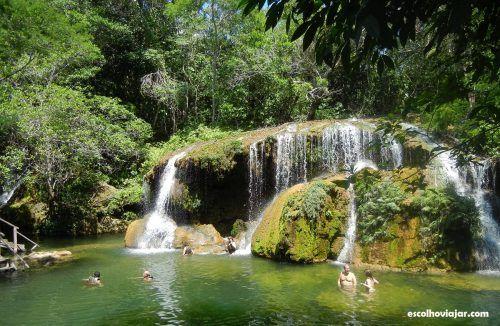 Cachoeira da Estância Mimosa - Brasil (MT) http://escolhoviajar.com/cachoeiras-e-comida-de-fazenda-roteiro-por-bonito/