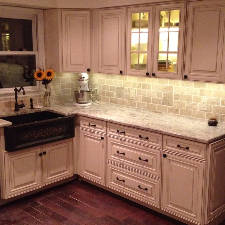 My Husband Did Our Kitchen. Granite Counter Top, Copper