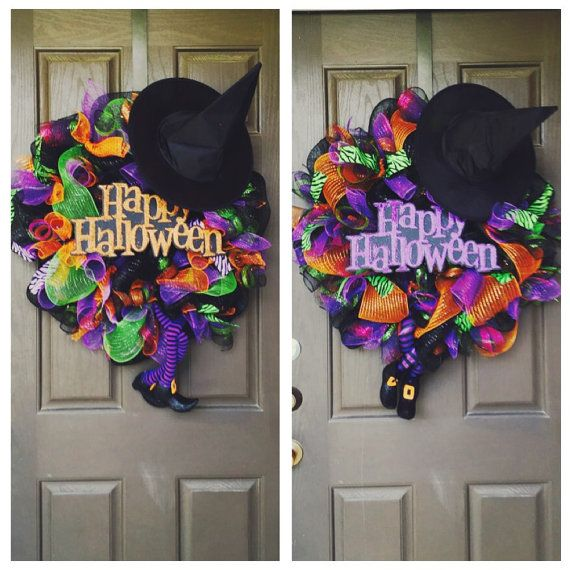 A fun wicked halloween wreath would look great on your for Things to hang on front door