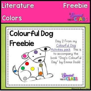 A special kind of class: Freebie Friday - Dog's Colorful Day