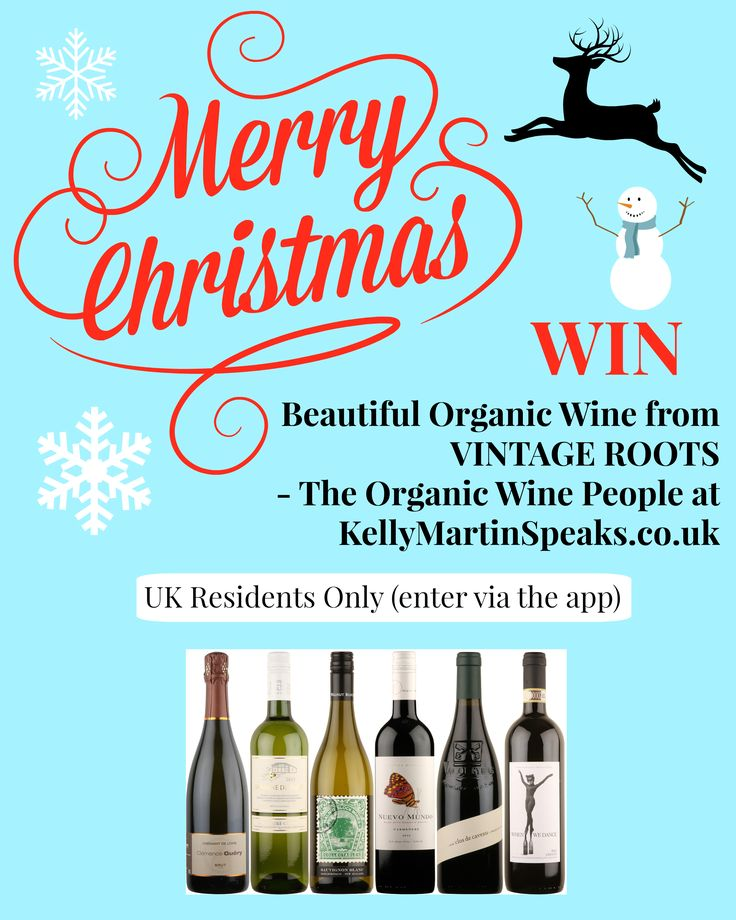 Enter this competition to win a case of organic wine from VINTAGE ROOTS - The Organic Wine Company #win #competition #wine #Christmas