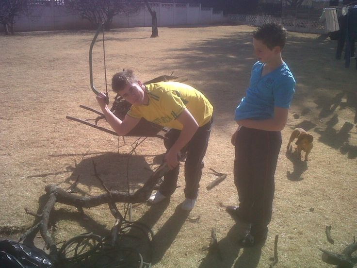 Stephan and Luan Venter on the show off for a braai.