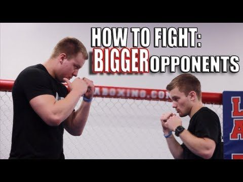 How to Fight Someone Bigger Than You - Overhand Right Punch |  Shane Fazen | fighttips.com #streetfight #self-defence
