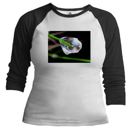 Ice on a green grass Baseball Jersey on CafePress.com by fotosbykarin #jersey #tees #shirt #tshirt #ice #winter #fotosbykarin #cafepress #cool