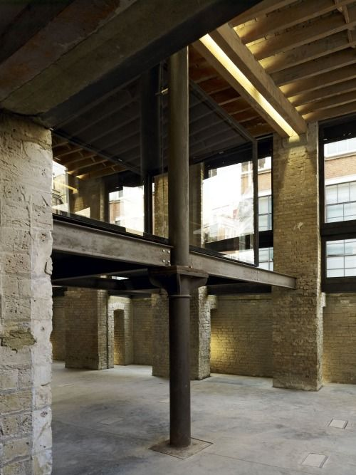 Incorporation of lighting into structural system  golden lane ~ amin taha architects