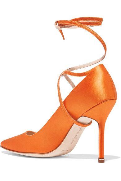 Vetements - Manolo Blahnik Satin Pumps - Bright orange - IT