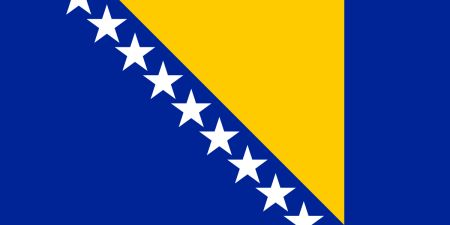Free Bosnia and Herzegovina flag graphics, vectors, and printable PDF files. Get the free downloads at http://flaglane.com/download/bosnian-flag/