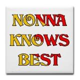Nonna Knows Best Tile Coaster for $10.50