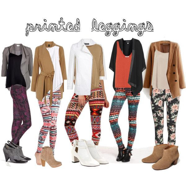 Printed Leggings Outfits Summer