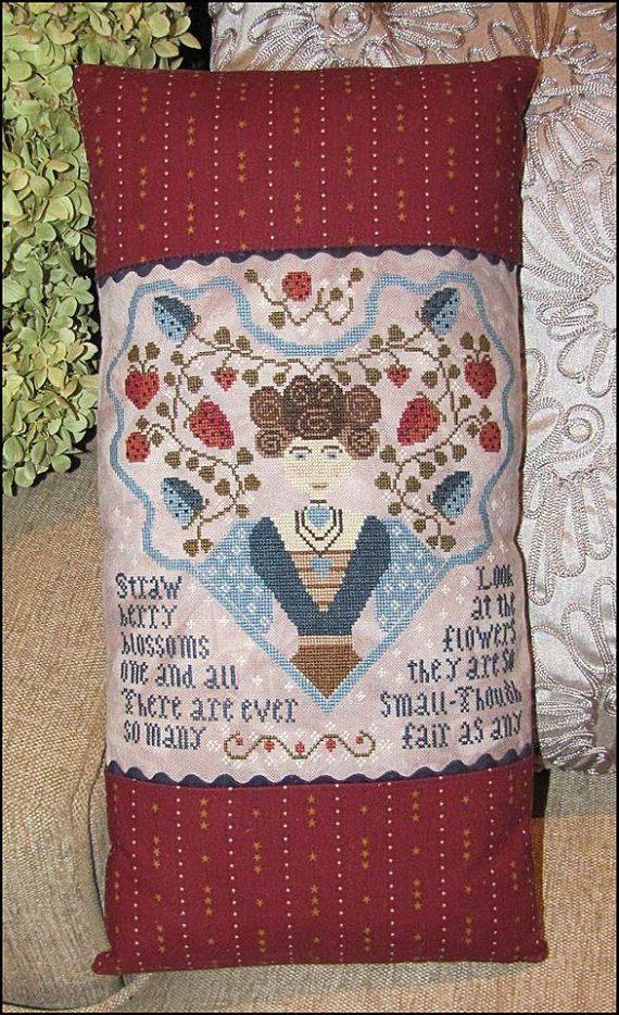 Home in My Heart Folk Art Primitive Kathy Barrick Cross Stitch Pattern